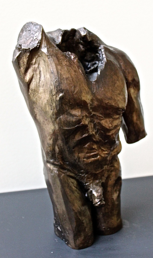 Bronze Male Torso by Michelle de Villiers