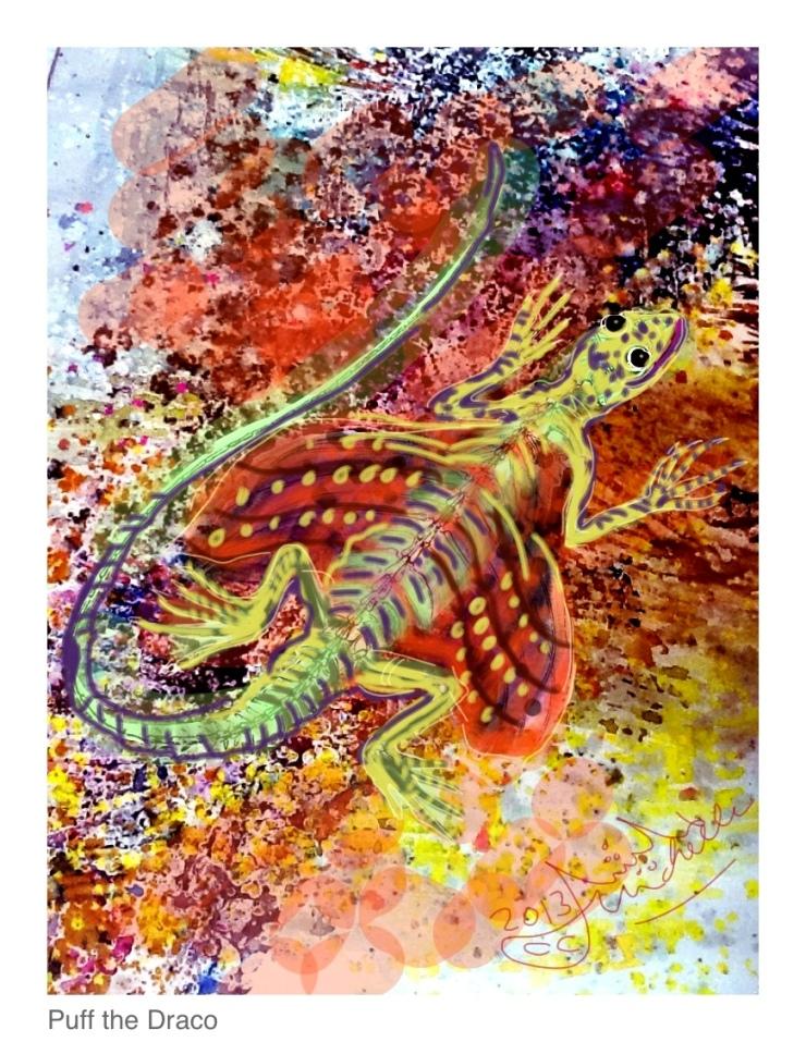 Puff, the Draco Lizard
